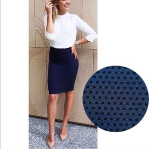 Banana Republic Pencil Skirt Textured Polka Dots